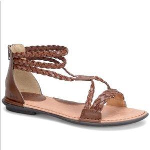 B.O.C. brown braided sandals sz 8 good condition
